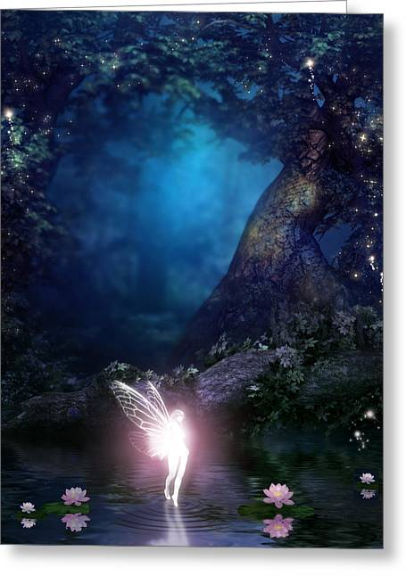 Fairie Greeting Card by David Griffith