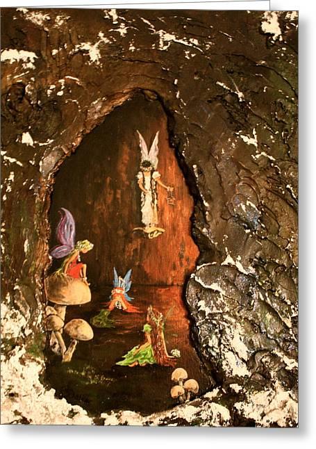 Fairies Abode Greeting Card by Jean Walker