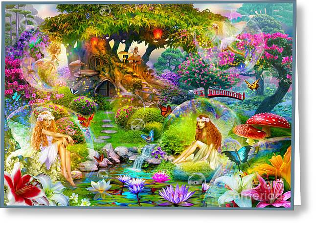 Fairies Greeting Card by Jan Patrik Krasny