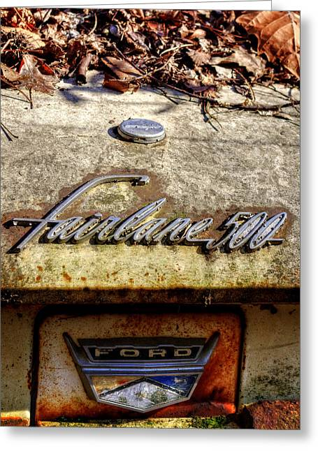 Fairlane 500 In The Woods Greeting Card