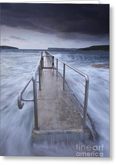 Fairlight Tidal Pool Greeting Card by Donald Goldney