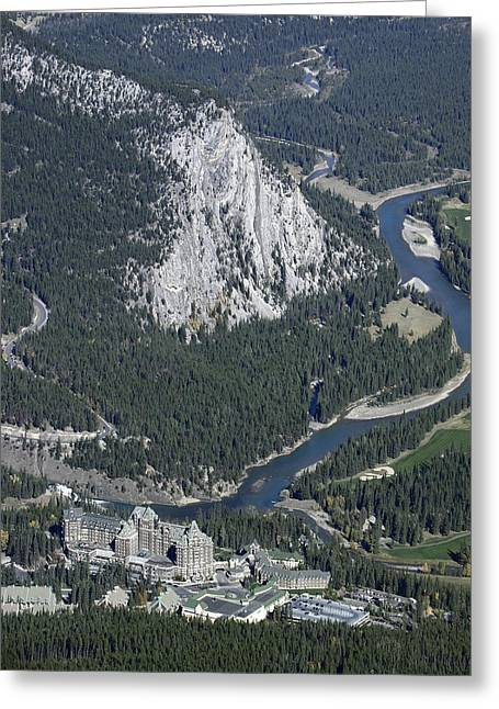 Fairmont Banff Springs Hotel And Golf Course Greeting Card by Daniel Hagerman