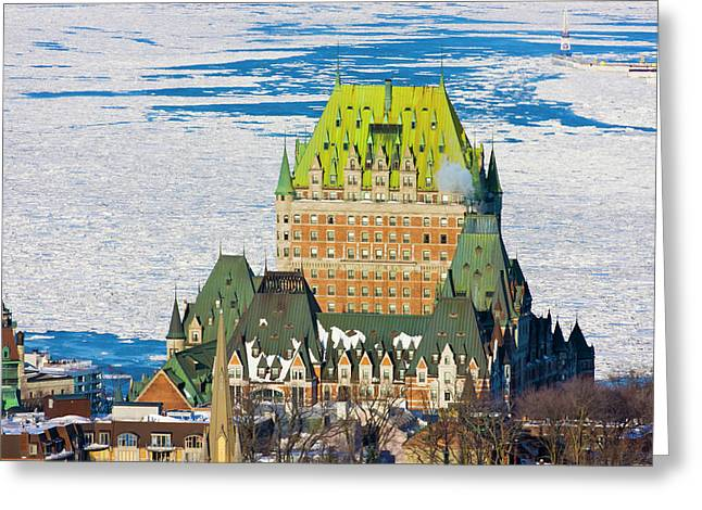 Fairmont Le Chateau Frontenac By St Greeting Card
