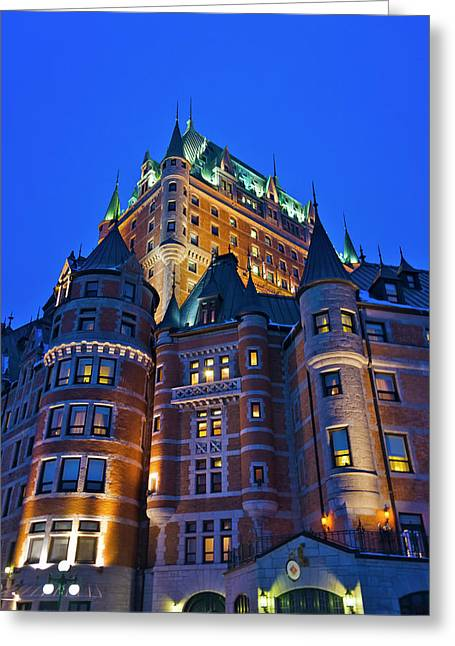 Fairmont Le Chateau Frontenac, Quebec Greeting Card