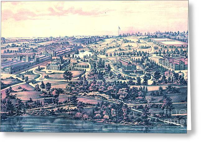 Fairmount Park Philadelphia 1876 Greeting Card by Padre Art