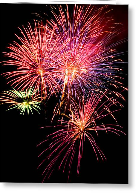Fairplay Fireworks Greeting Card by Patrick Derickson