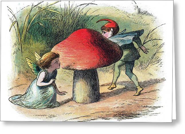 Fairy And Elf-legendary Creatures Greeting Card by Photo Researchers