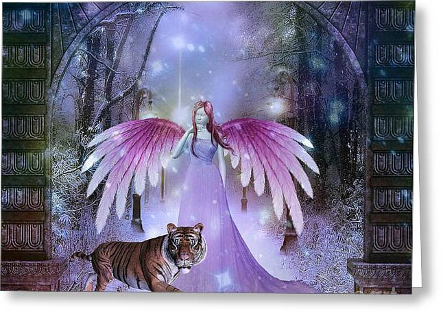 Fairy And Tiger Greeting Card