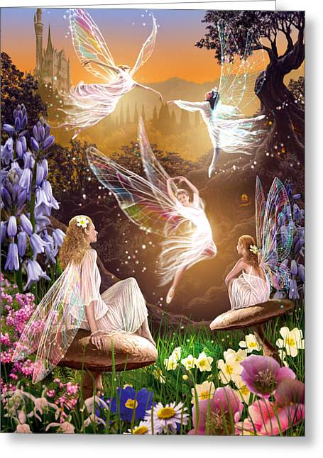 Fairy Ballet Greeting Card by Garry Walton