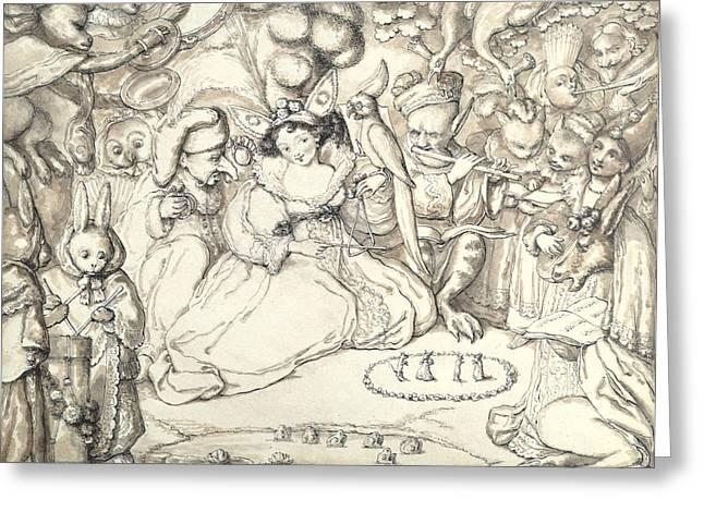 Fairy Concert, C.1830 Greeting Card by Charles Kirkpatrick Sharpe