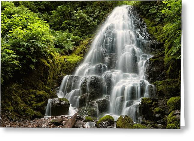 Fairy Falls Greeting Card by Brian Bonham