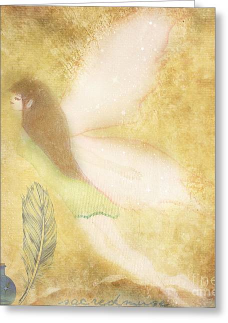Fairy Folk Magic Greeting Card by Sacred  Muse