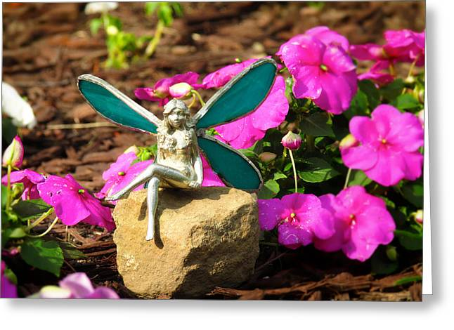 Fairy Garden Greeting Card by Andrea Dale