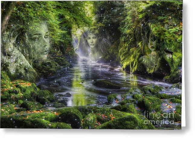 Fairy Glen Fantasy Greeting Card by Ian Mitchell