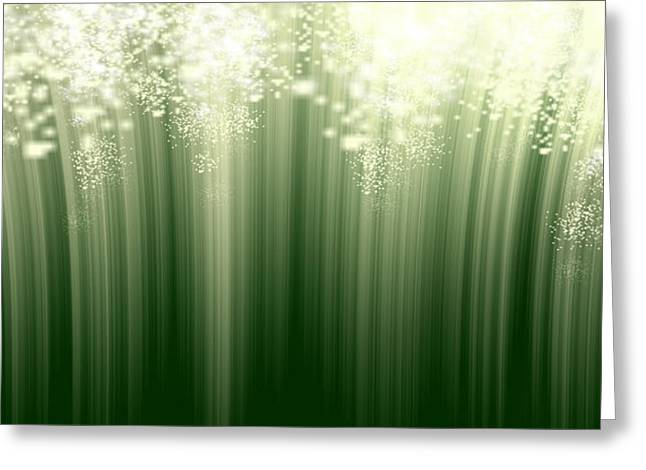 Fairy Grass Greeting Card by Lori Grimmett