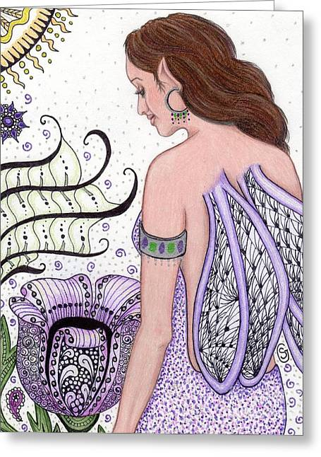 Fairy -- I Just Love My Poppy Greeting Card by Sherry Goeben