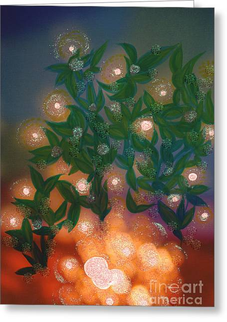 Fairy Light Garden By Jrr Greeting Card