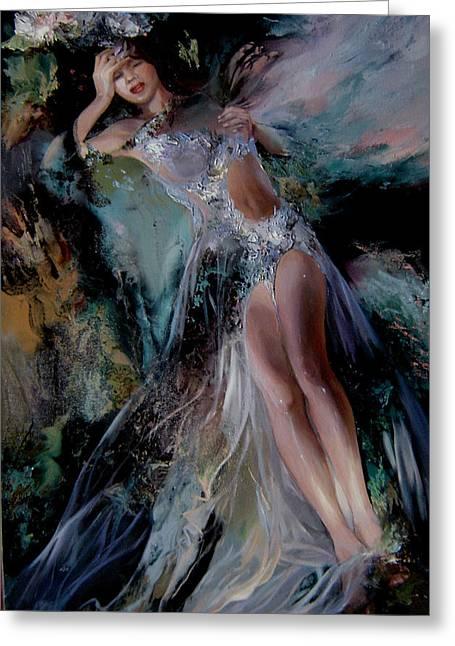 Fairy Greeting Card by Nelya Shenklyarska