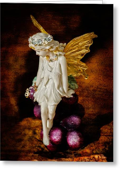 Fairy Of The Harvest Moon Greeting Card by Dave Garner