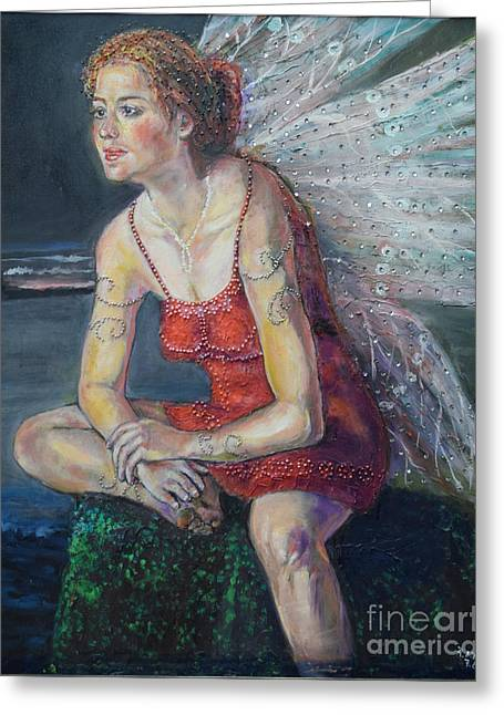 Fairy On A Stone Greeting Card