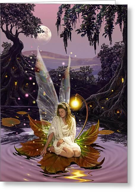 Fairy Princess Greeting Card by Garry Walton