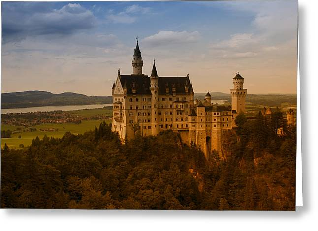 Fairy Tale Castle Greeting Card by Miguel Winterpacht