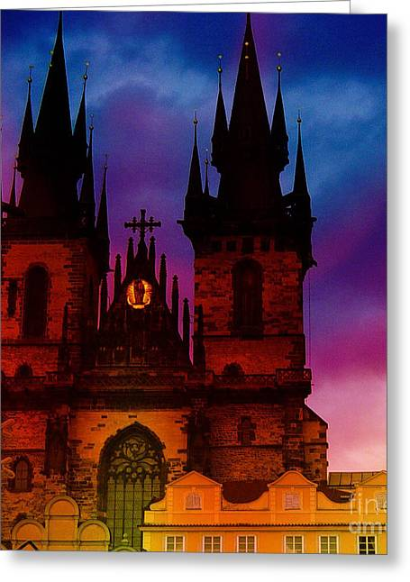 Fairy Tale Castle Prague Greeting Card
