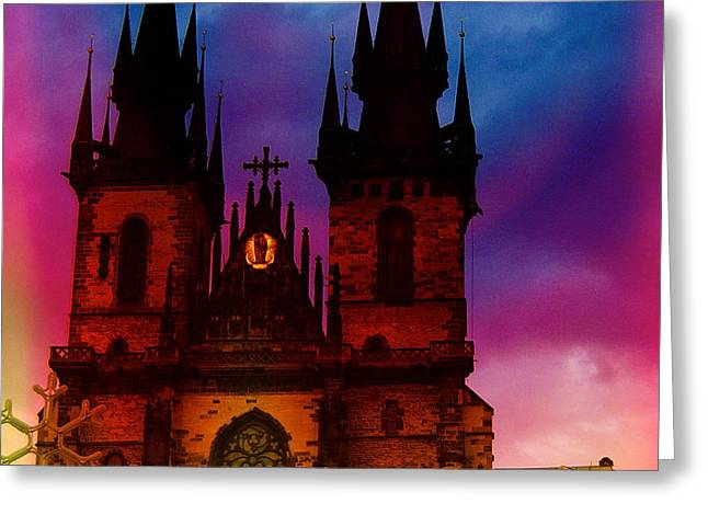 Fairy Tale Castle Prague Greeting Card