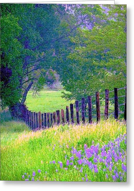 Fairy Tale Meadow With Lupines Greeting Card