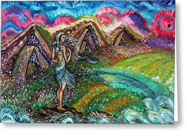 Fairy World Greeting Card by Yelena Rubin