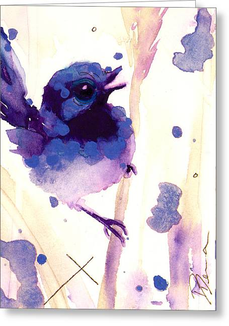 Fairy-wren Greeting Card by Dawn Derman