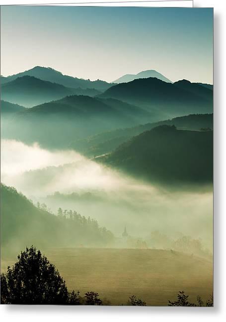 Fairyland Morning Greeting Card by Mircea Costina Photography