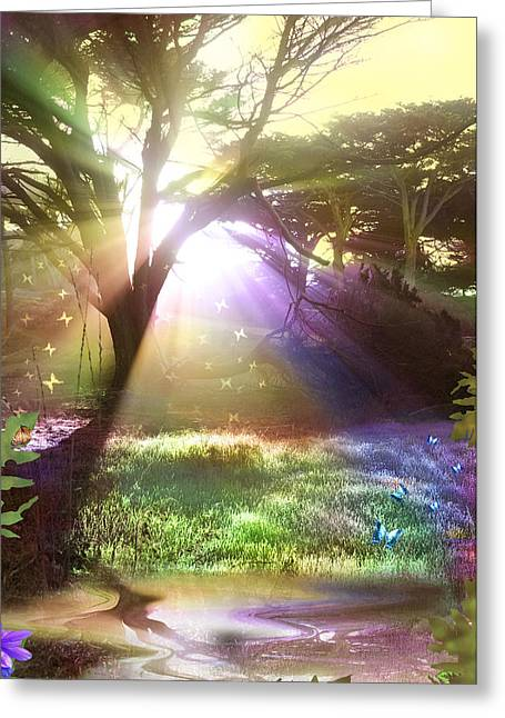 Fairyland Sunset Greeting Card