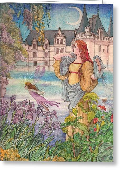 Fairytale Nocturne Castle Greeting Card