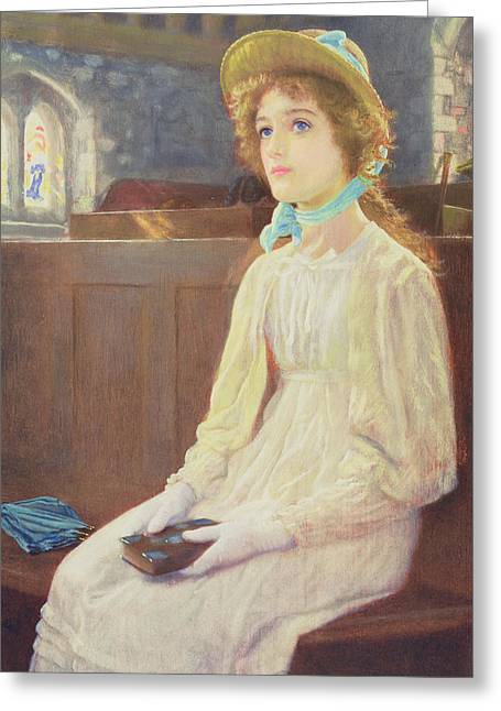 Faith Greeting Card by Arthur Hughes