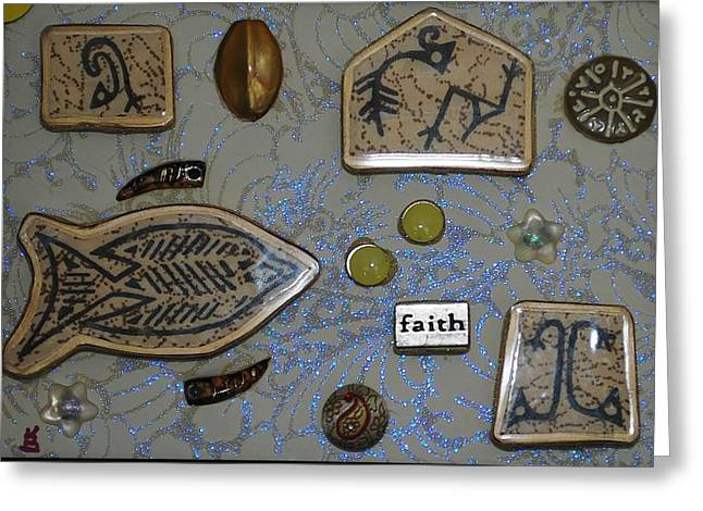 Faith Collage Greeting Card