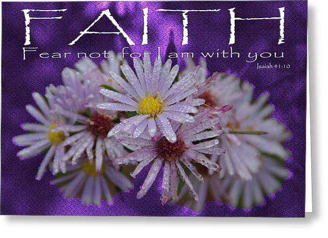Faith Fear Not Isaiah Greeting Card by Robyn Stacey