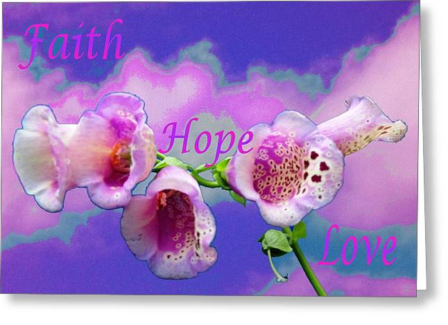 Faith-hope-love Greeting Card