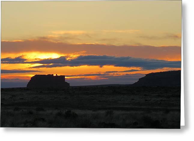 Fajada Butte At Sunrise Greeting Card by Feva  Fotos