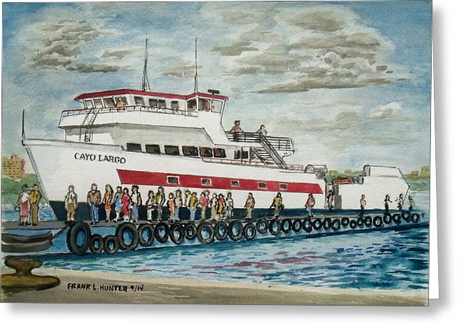 Fajardo Ferry From Vieques Puerto Rico Greeting Card