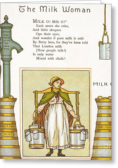 Fake Milk, 1880s Poem Greeting Card by British Library