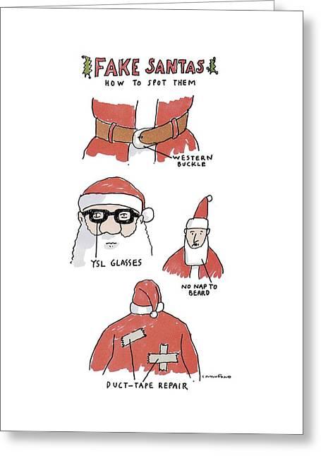 Fake Santas Greeting Card