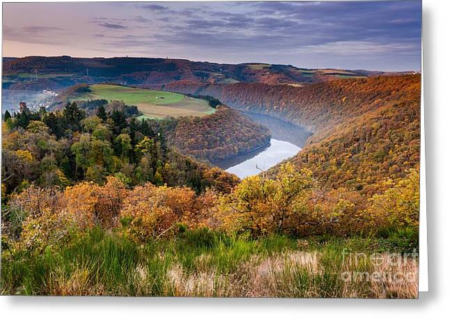 Falkenstein And The River Sure At Sunrise Greeting Card
