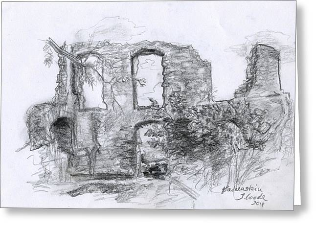 Falkenstein Ruine Greeting Card