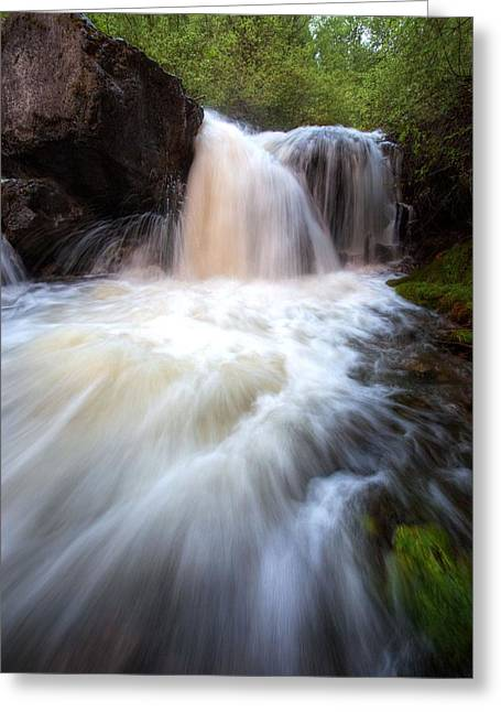 Greeting Card featuring the photograph Fall And Splash by David Andersen
