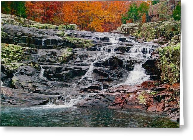 Fall At Black Falls Greeting Card by Larry Bodinson