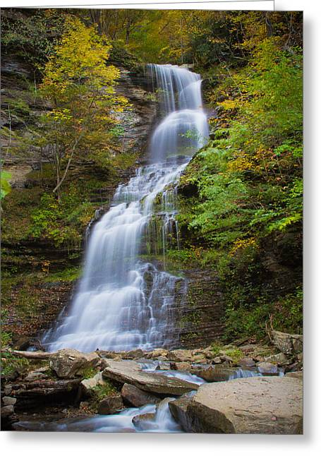 Fall At Cathedral Falls Greeting Card