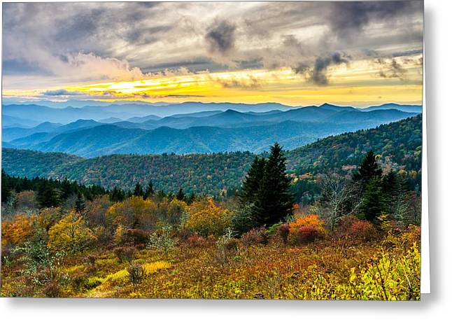 Fall At Cowee Mountains Overlook Greeting Card