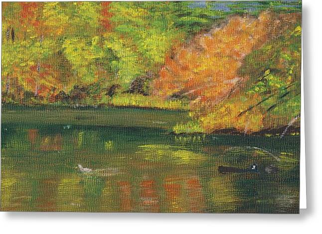 Fall At Dorrs Pond Greeting Card