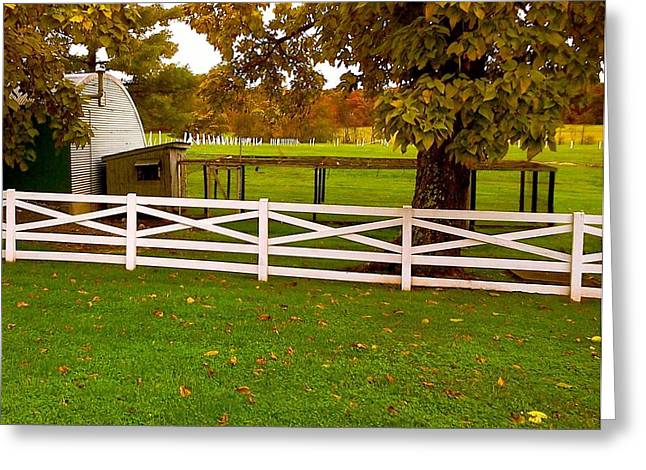 Fall At Eisenhower Farm Greeting Card by Amazing Photographs AKA Christian Wilson